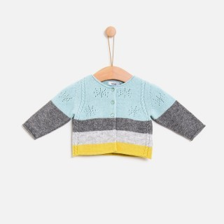 Casaco tricot snowflake stripes