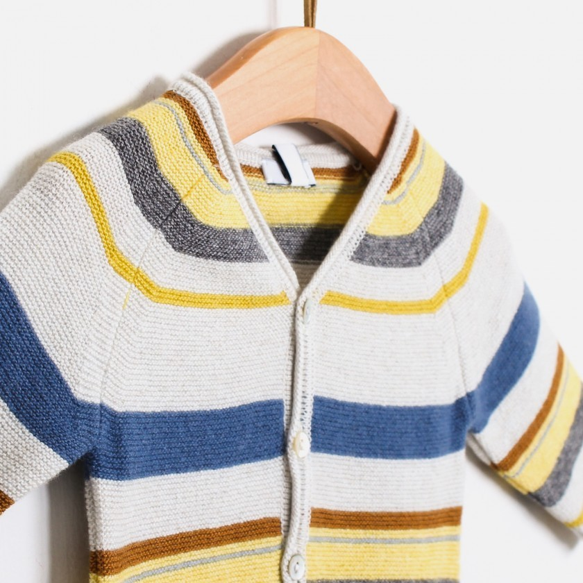 Casaco tricot little hygge stripes