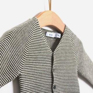 Casaco tricot viking sea stripes