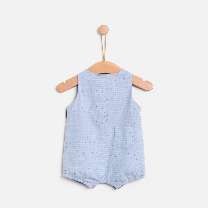 Hygge mini checks  romper