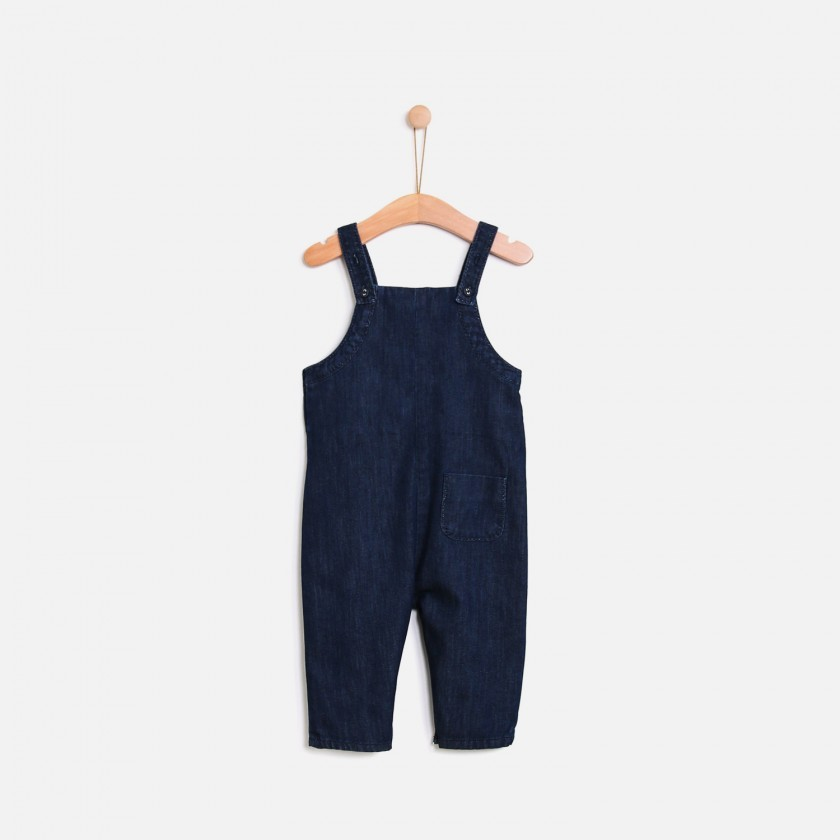 Pleated overalls