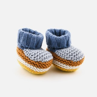 Botas tricot little hygge stripes