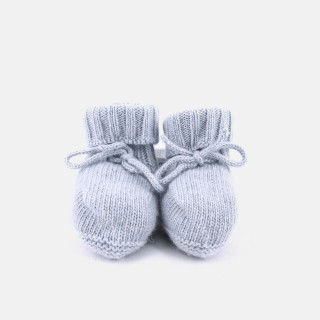 Botas tricot com laço