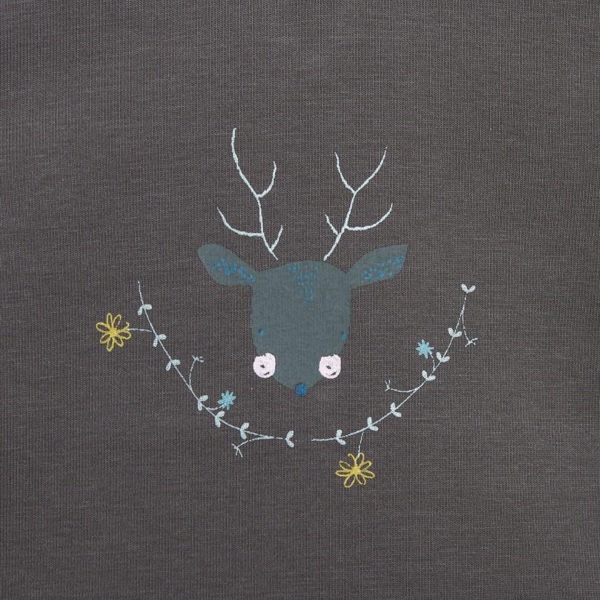 T-shirt Flowers Deer