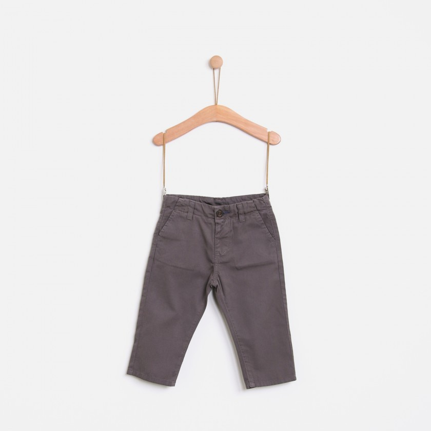 Twill chino trousers
