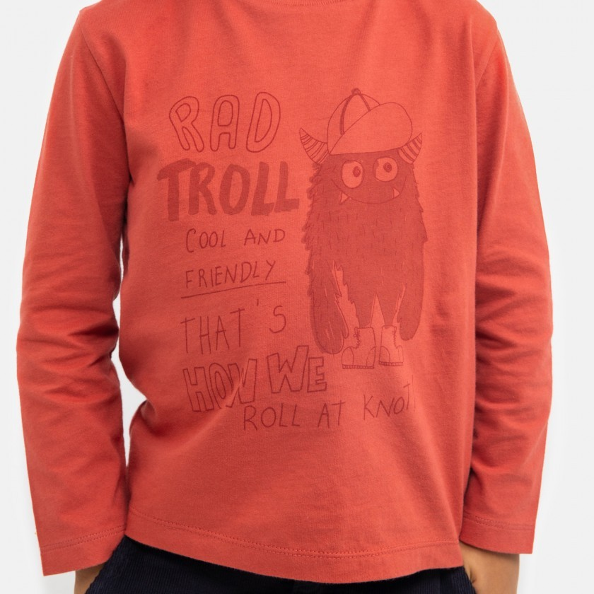 T-shirt red troll