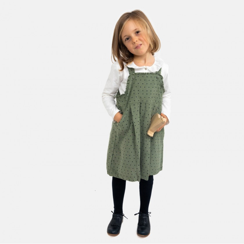 Sea Spray hearts pinafore