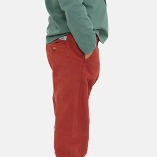 Calças chino de sarja