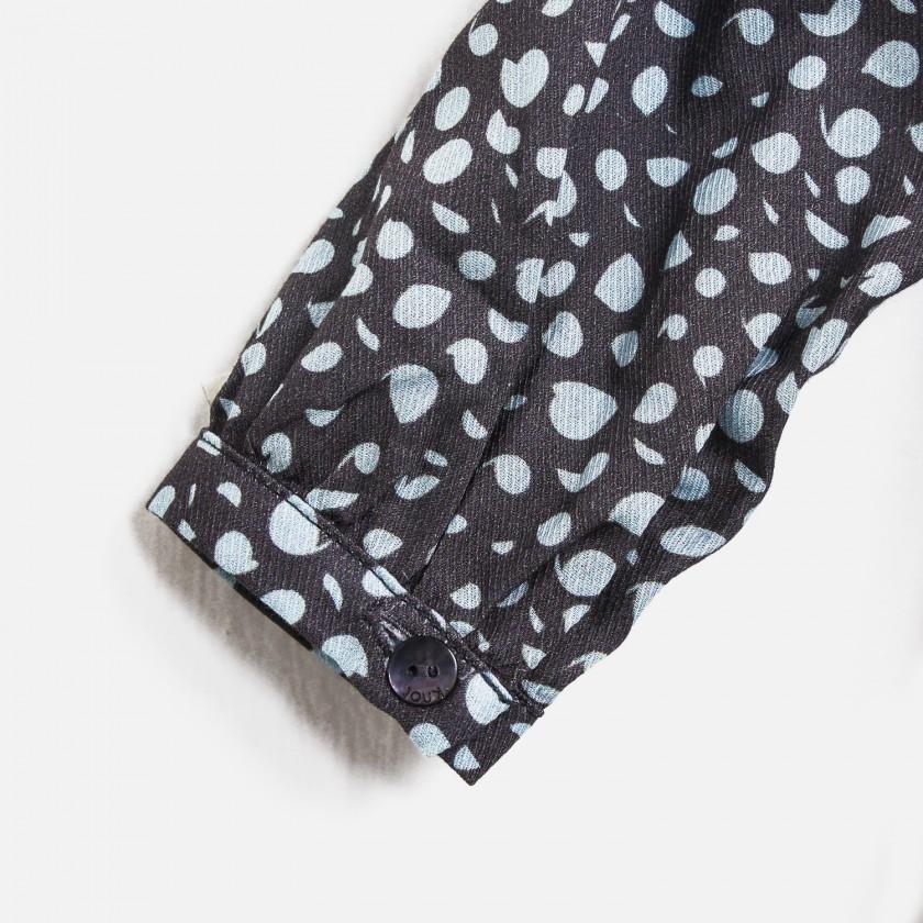 Vestido painted dots grey