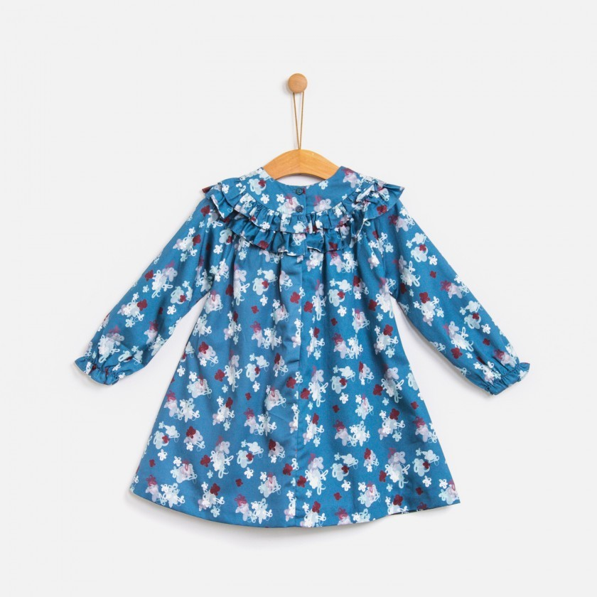 Vestido My blueberry flowers
