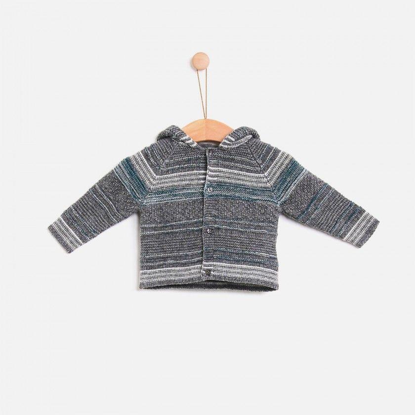 Baby coat knitted Kornsno Blend