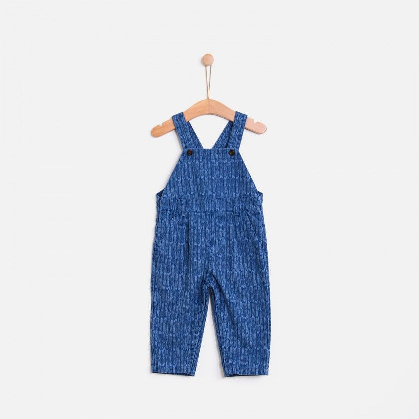 Waves print overalls
