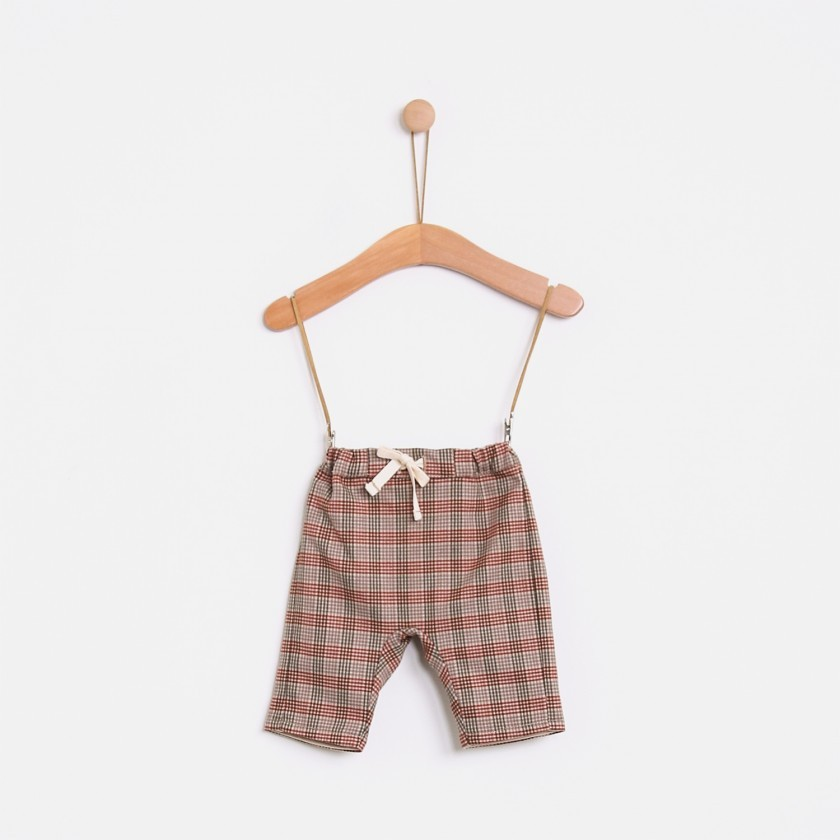 Landscape checks baby trousers