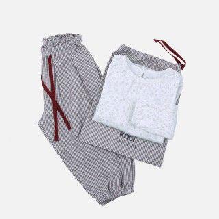 Pajamas girl flannel Julafton