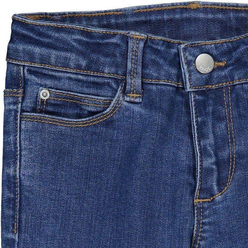 Slim girl denim trousers