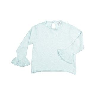 Camisola tricot com folho