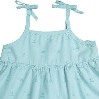 Pinafore dress baby cotton Safari