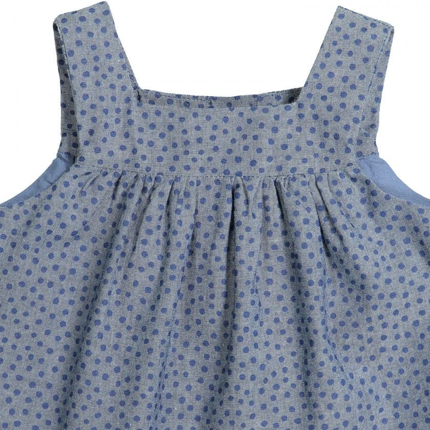 African dots pinafore dress