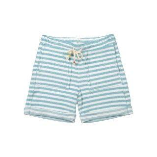 Striped knit shorts