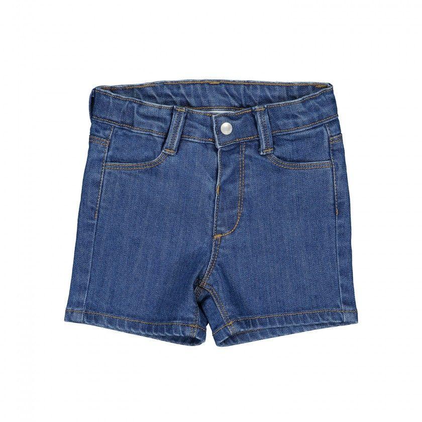 Denim 5 pocket shorts