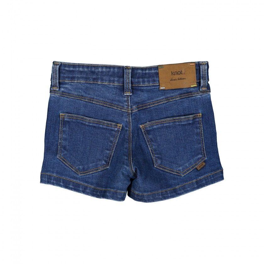Slim girl denim shorts