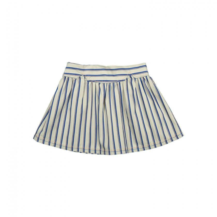 Rustic stripes skirt
