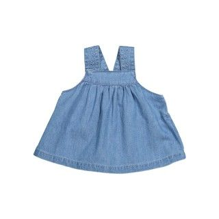 Geometrics Denim Pinafore Dress
