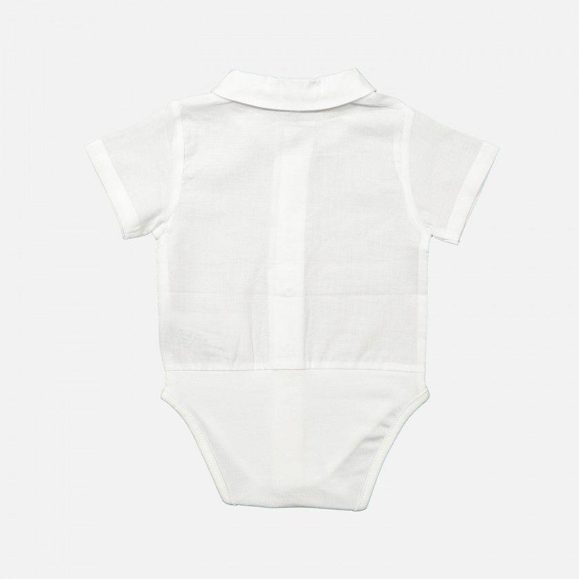 Short sleeve beak collar shirt body