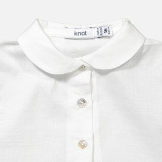 Short sleeve peter pan collar shirt body