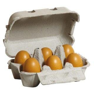 Brinquedo Madeira Erzy Caixa Ovos