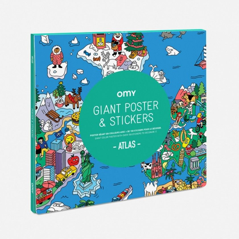 Poster with Sticker Omy Atlas