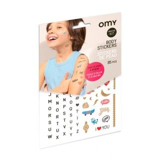 PEAU01 BODY STICKERS LETTERS
