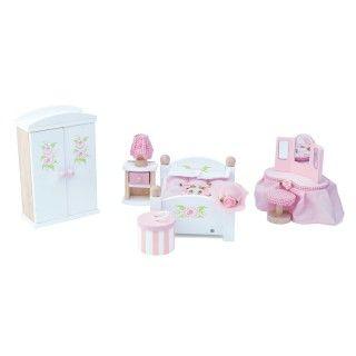 Brinquedo Madeira Le Toy Van Quarto de Dormir de Bonecas