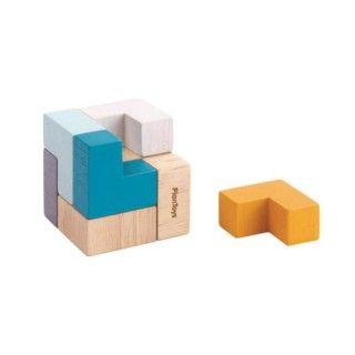 Brinquedo Madeira Plantoys Puzzle Cubo 3D