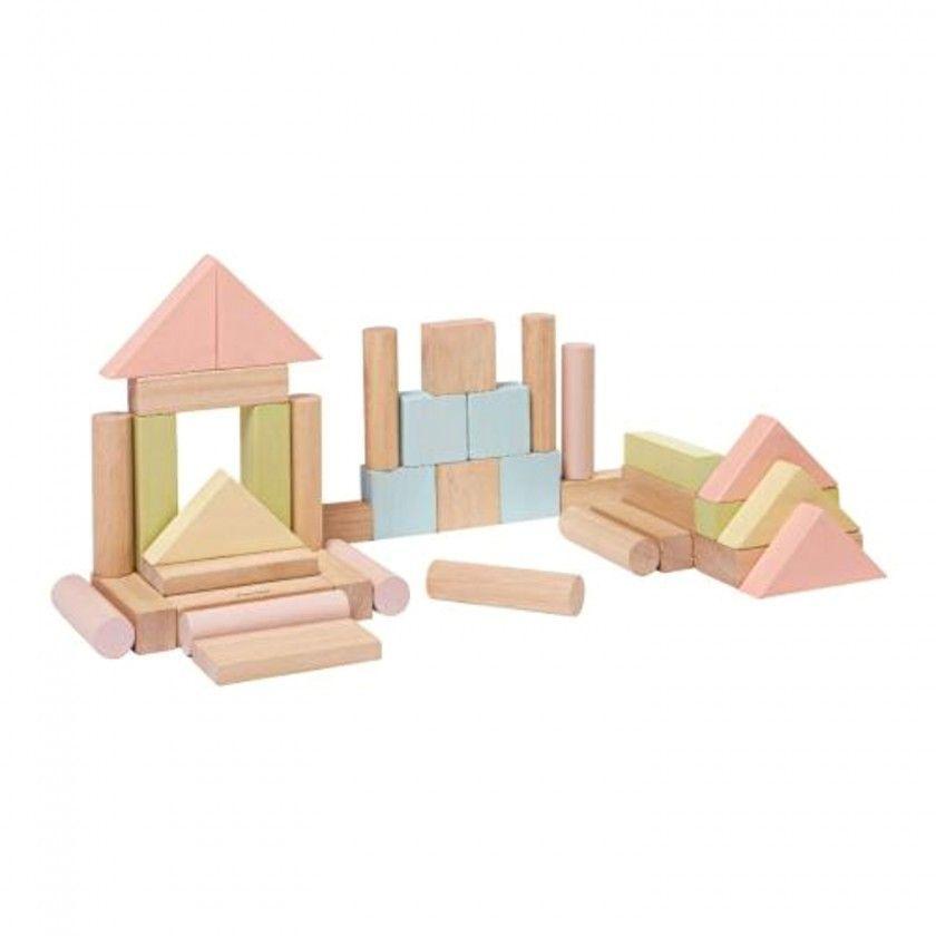 40 Wood Blocks Plantoys