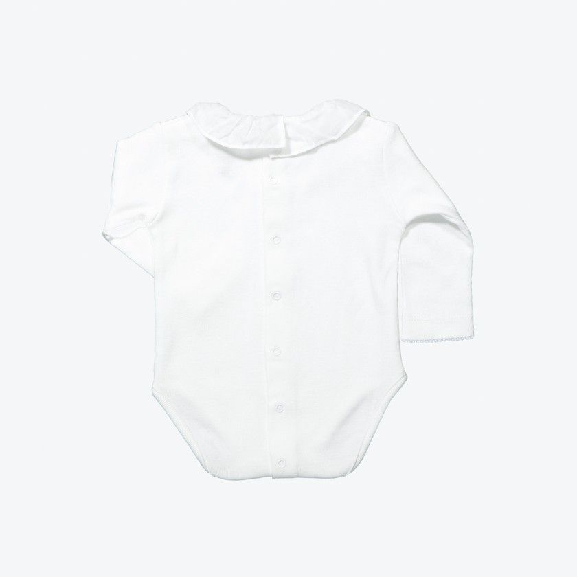 Long-sleeved body pierrot collar