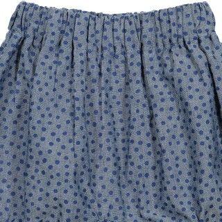 Shorts baby chambray African Dots