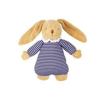 Blue Stripes Rabbit Trousselier Plush