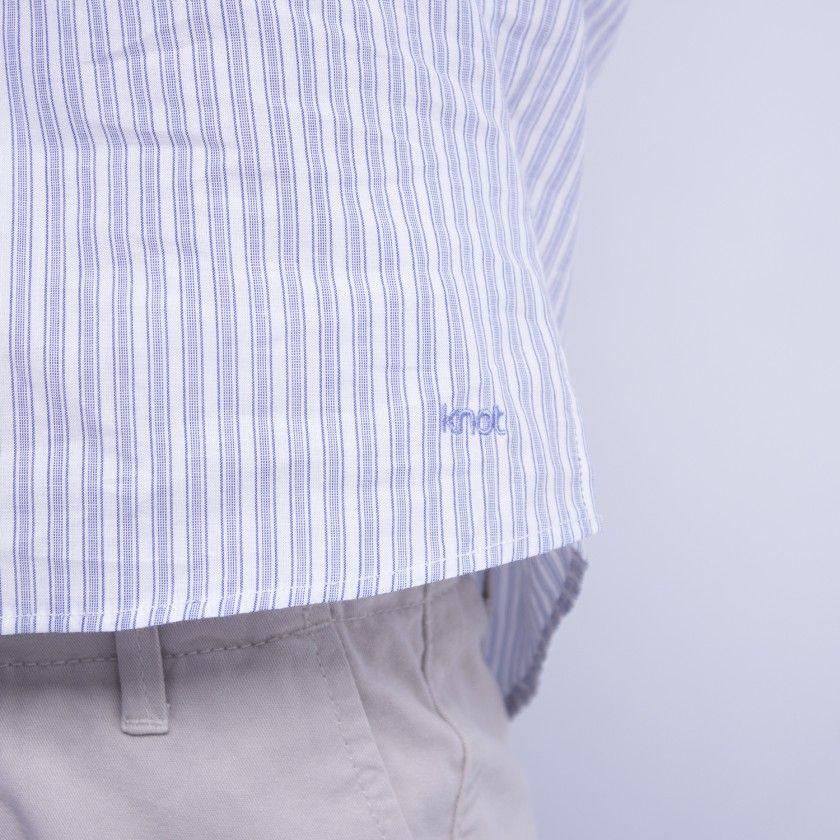 Camisa com colarinho Mandarin