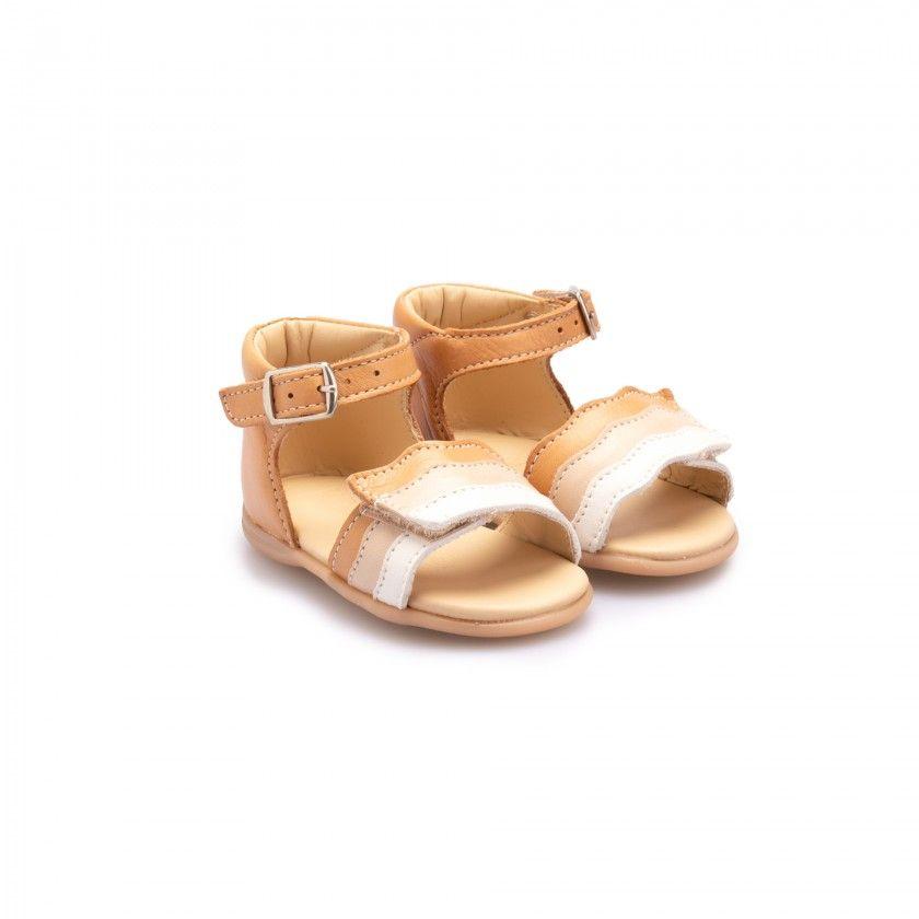 Pre-walker sandals with fringes