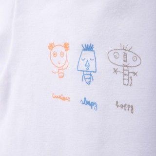 Body t-shirt manga curta bebé Moody