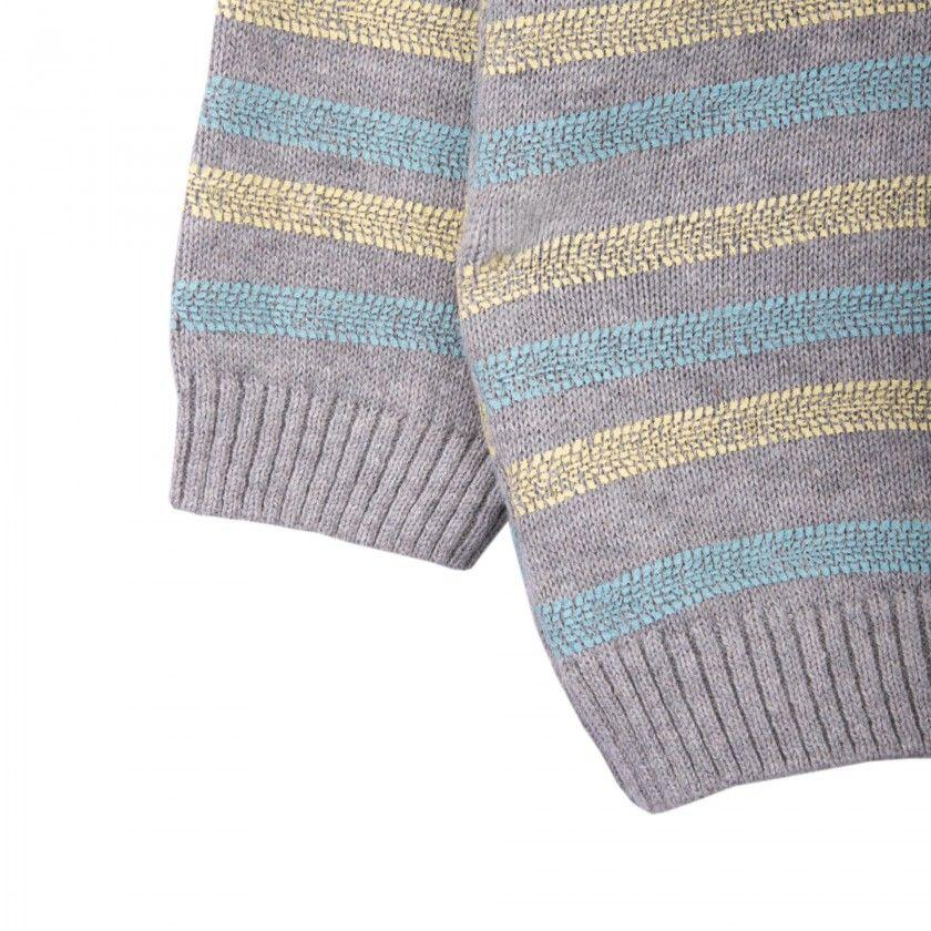 Camisola tricot trilhos
