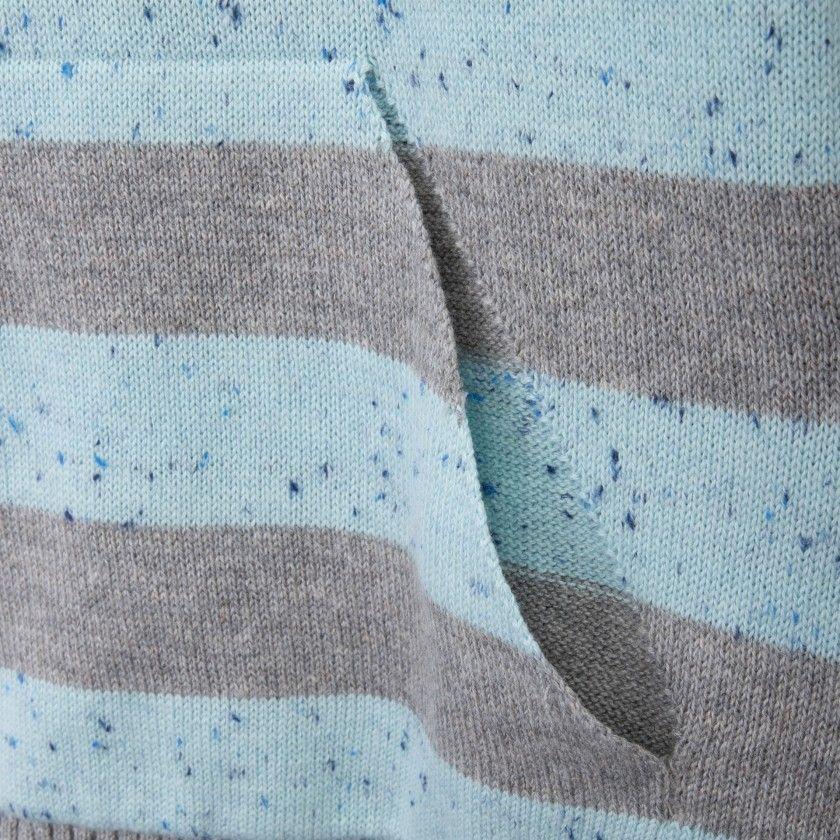 Camisola tricot com bolso canguru