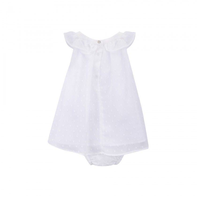 Plumeti dress w/ ruffle