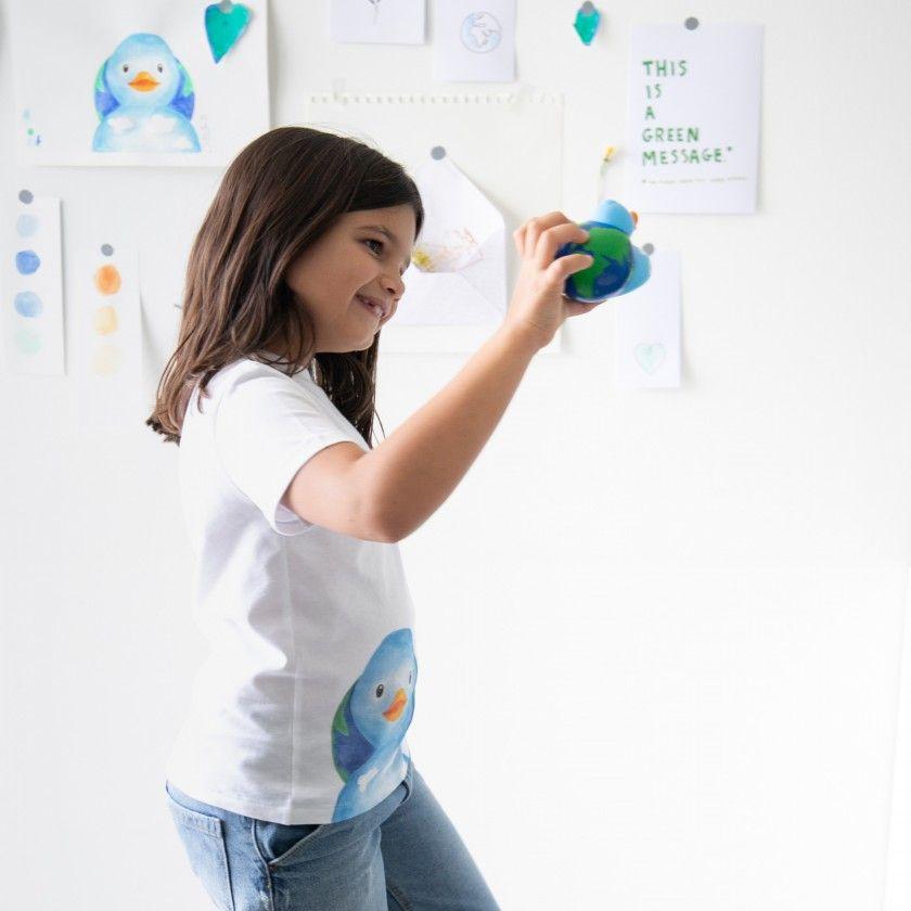 Kit Save the Planet - T-shirt criança e brinquedo