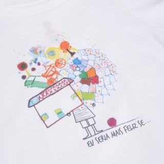 """T-shirt Solidária para criança """"Eu Seria Mais Feliz Se…"""""""