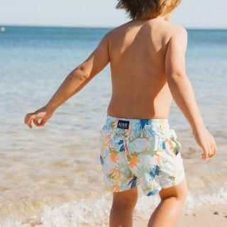 Jungle blue swim shorts