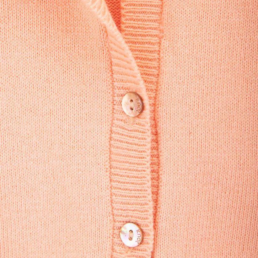 Ballon sleeve knitted jacket