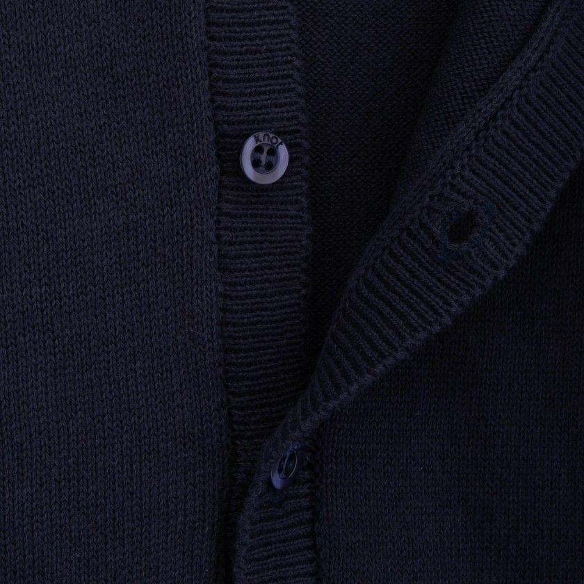 Zig zag knitted jacket
