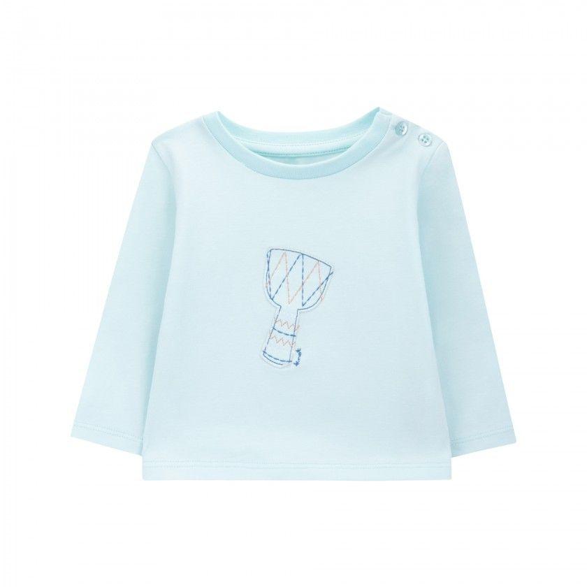 T-shirt manga comprida bebé algodão Jambé